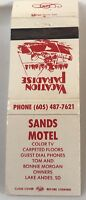Matchbook Cover Sands Motel Lake Andes SD Tom & Bonnie Morgan Owners