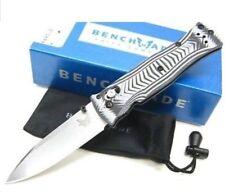 * NEW BENCHMADE AXIS PARDUE BLACK & GRAY G10 HANDLE SATIN PLAIN EDGE KNIFE 531