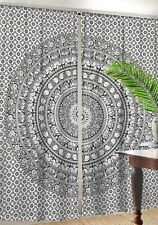 Elephant Mandala Window Valance Door Cover 2 Panel Set Curtain Indian Drapes