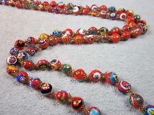 Antike Halskette, Collier, Glasperlen, Millefiori, Murano, Venedig, Italien