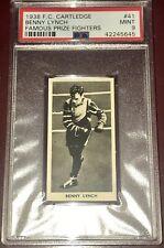 1938 F.C. CARTLEDGE BENNY LYNCH #41 PSA 9 MINT Vintage BOXER BOXING card RARE !!