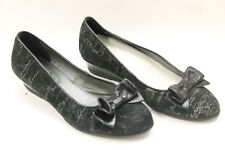 ALVIERO MARTINI  women shoes sz 6.5 Europe 37 black suede leather S6663