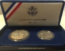 New Listing1986 Proof Statue of Liberty 2 Coin Silver Dollar and Clad Half Us Proof Set