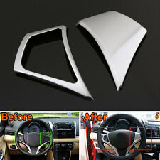 2Pcs ABS Interior Steering Wheel Cover Trim Decoration For Toyota Yaris L 2014