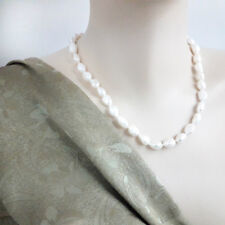 Natural White Baroque Freshwater Pearl, Great Gatsby Pearl Necklace- 45 cm