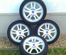 "Sparco Rally White + Blue LIP by ""OZ"" - 16 Zoll,Falken-OhtsuZIEX ZE-912 - 205/45"