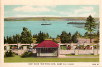 Digby Basin from Pines Hotel. Digby. Nova Scotia Canada. Vintage Postcard