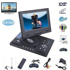 9.8'' Tragbarer DVD Player 270° Drehbar USB/SD Auto Fernbedienung Game TV NEU BP