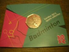 Badminton Royal Mint 2012 Olympic Games 50p 2011 Coin Pack BU Sealed on card
