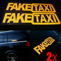 Funny 2pcs FAKE TAXI Car Auto Sticker Self Adhesive Vinyl Decal FakeTaxi Tips