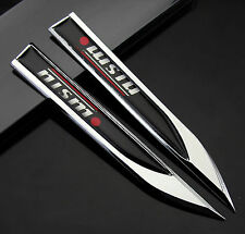 2pcs Auto Car Metal Knife Badge Emblem Decal Sticker For Black NISMO Power hot
