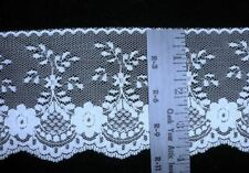 """Light Blue 3 3/4"""" or Mint Green 3 1/2"""" W Flat Lace Polyester Sewing Trim Per 2 Y"""