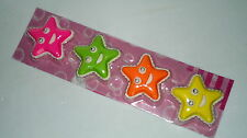 Eraser, Gomas de Borrar, Estrellas Colores x4, Regalo, Goma, NUEVO / NEW