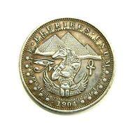 HOBO - NICKELS SOUVENIR DOLLAR 1904 / USA / EXONUMIA SILVERED COIN - TOKEN