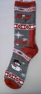 NEW! Tampa Bay Buccaneers Holiday Snowman Ugly Sweater Large Crew Socks Brady