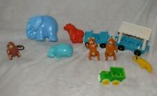 Vintage Fisher Price Little People Zoo Animals #916 Elephant Hippo Monkey Bear