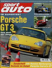 sport auto 6/03 2003 Renault Clio V6 Integra Type R Peugeot 206 RC GT3 Wiesmann