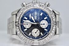 Breitling Superocean A13340 Chronograph diamond Mens Swiss Automatic Watch Box