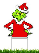 GRINCH THAT STOLE CHRISTMAS YARD SIGN WITH FREE STAKE USA MADE DR SEUSS