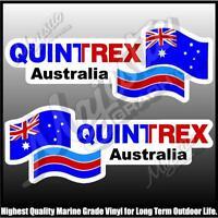 QUINTREX AUSTRALIA - 450mm X 150mm X 2 - LEFT & RIGHT PAIR - BOAT DECALS