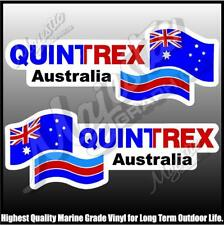 QUINTREX AUSTRALIA - 450mm X 150mm X 2 - LEFT & RIGHT PAIR - BOAT DECALS