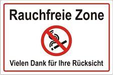 Rauchfreie Zone - 4 Grö�Ÿen - Aufkleber Schild Hinweis Verbotsschild Nr. 3111