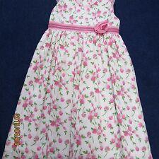 Will'beth girls size 4 dress, fuschia pink flowers w/white new w/tags