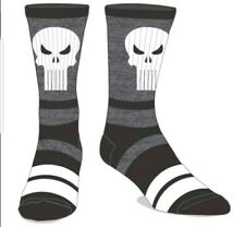 MARVEL COMICS THE PUNISHER PREMIER CREW SOCKS SIZE 10-13 OFFICIAL PRODUCT new