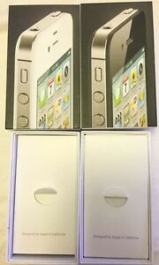 iPhone 4 8GB Empty Box + Manual + Stickers Apple Set White / Black