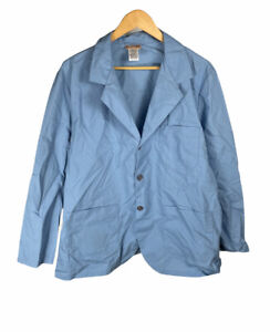 New Vintage Red Kap Light Blue Size L Long Sleeve Button Up Free US Shipping