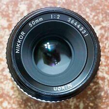 Nikon Nikkor 50mm F/2 AI Manual Focus Lens