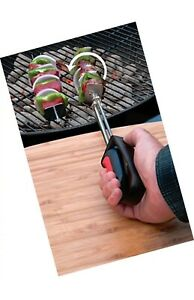 Charcoal Companion Rotating Kabob Skewer Set 360° Bbq and Grilling Skewer CC5168