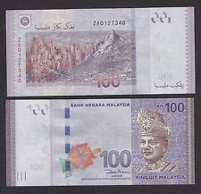 Malaysia 100 Ringgit (2011) Replacement ZA Banknote P55 UNC