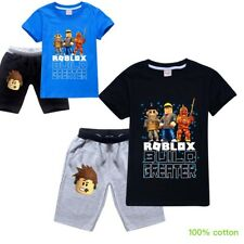 ROBLOX boys kids summer set short sleeve pyjama pjs size 7 -12 AU 100% cotton