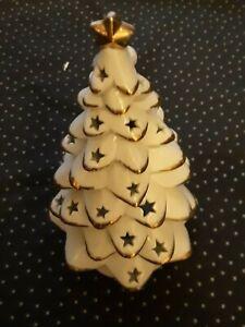 Porzellan Weihnachtsbaum Windlicht Kerze Höhe 23 cm neu