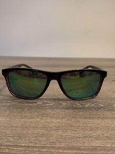 Maui Jim Sunglasses Onshore MJ798-01 Brown Stripe Polarized Mirror Custom Green
