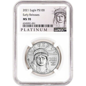 2021 American Platinum Eagle 1 oz $100 - NGC MS70 Early Releases ALS Label