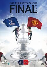 FA CUP FINAL PROGRAMME 2016 Manchester United v Crystal Palace