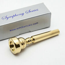 Genuine Schilke S4 Symphony Series 24K Gold Trumpet Mouthpiece NEW