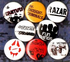 AUSTRALIA PUNK 8 pin button badge SAINTS SCIENTISTS RAZAR FUN THINGS VICTIMS KBD