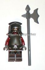 Lego Lord of the Rings Minifigure, Uruk-Hai w/ Armor, Helmet and Axe 9471, New