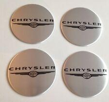 4 Chrystler Aufkleber 58mm Silber Embleme Logo  Nabendeckel 45-Ch