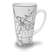 Sacramento Map Fashion NEW White Tea Coffee Latte Mug 12 17 oz | Wellcoda