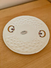 Donegal Irish Parian China Plate Handcrafted In Ireland Claddagh Ring Pattern