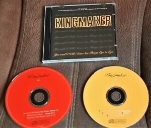 KINGMAKER YOU AND I WILL NEVER THINGS  SEE EYE TO EYE 1995 DOUBLE CD  EP INDIE