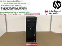 HP Z420 Workstation Intel Xeon E5-2650 2.0GHz 24GB RAM Nvidia Quadro NVS 300