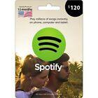 Spotify Premium USA Gift Card Value  $120