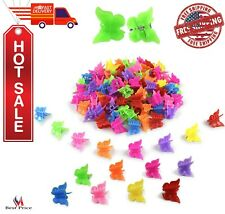 Mini Hair Plastic Butterfly Clips Accessories For Women Girls 100 Pcs Hairclips
