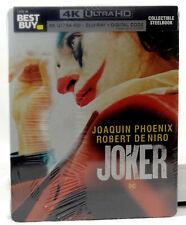 JOKER Blu-ray [4K UHD + 2D + DIGITAL COPY] Steelbook BEST BUY NEW & SEALED OOP**