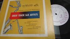 "COLEMAN HAWKINS CHU BERRY RCA VICTOR GREAT TENOR SAX ARTISTS 10"" LP JAZZ"